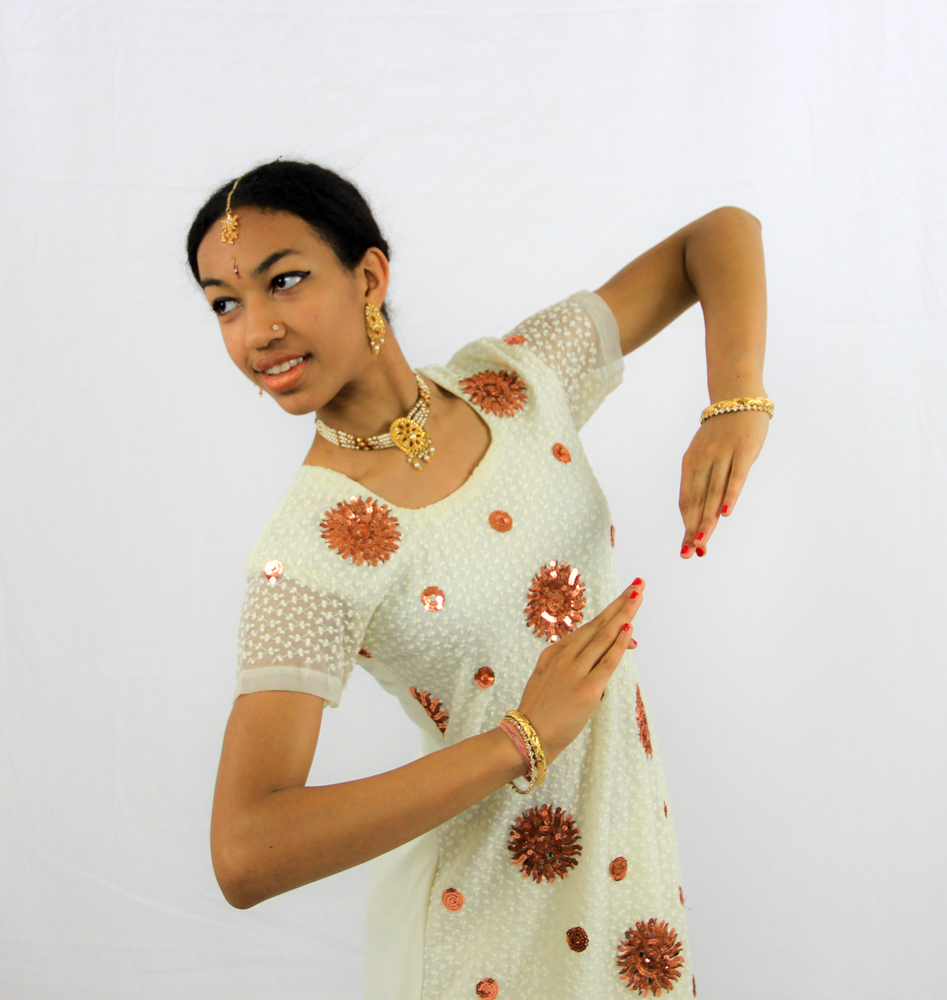 Girl holding a dance pose