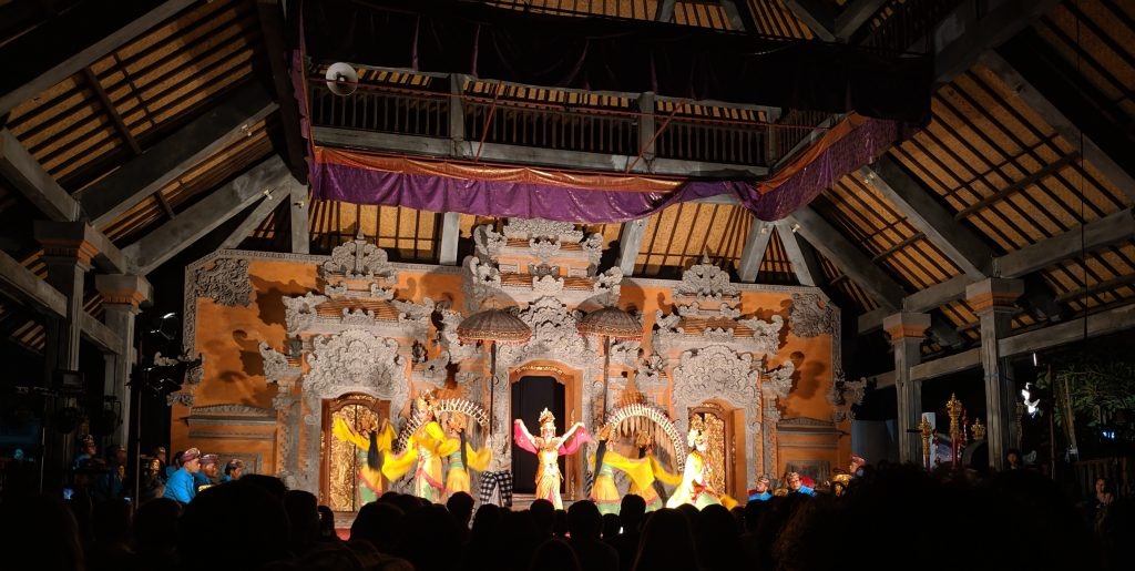 Legong stage performance