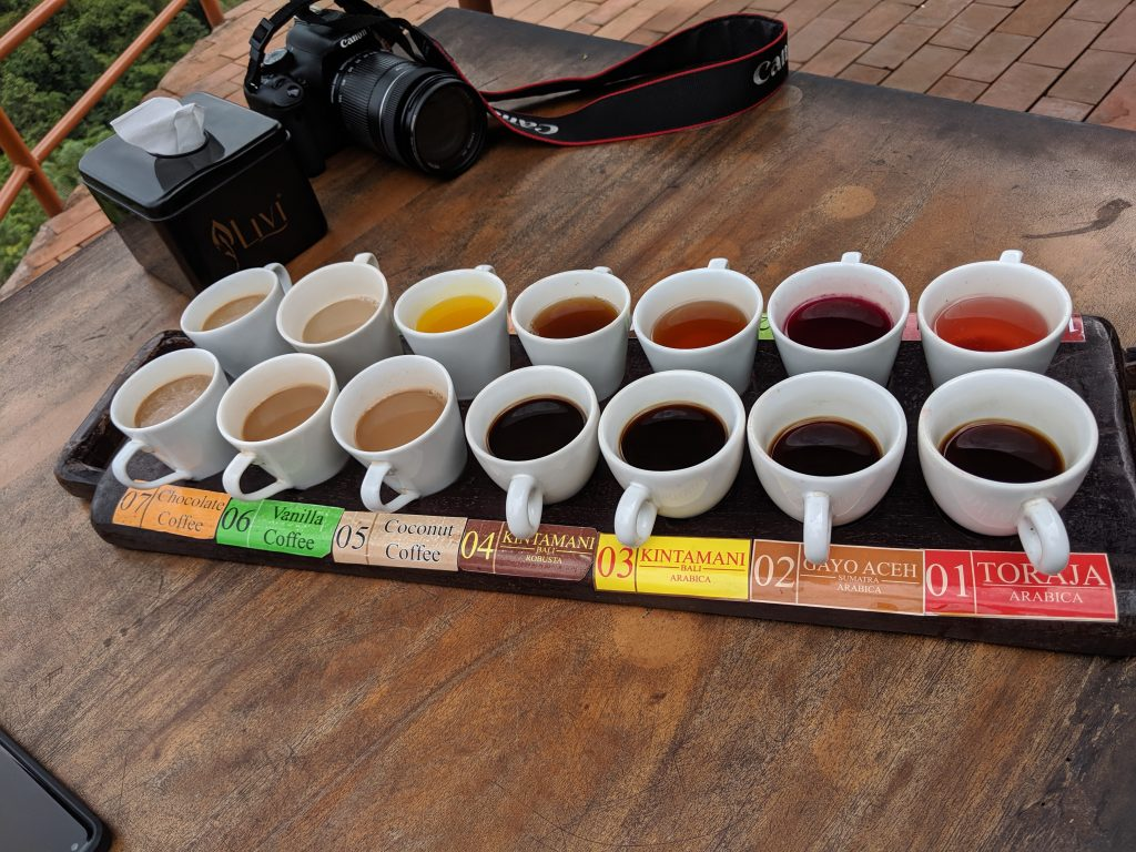 Coffee and tea sampling