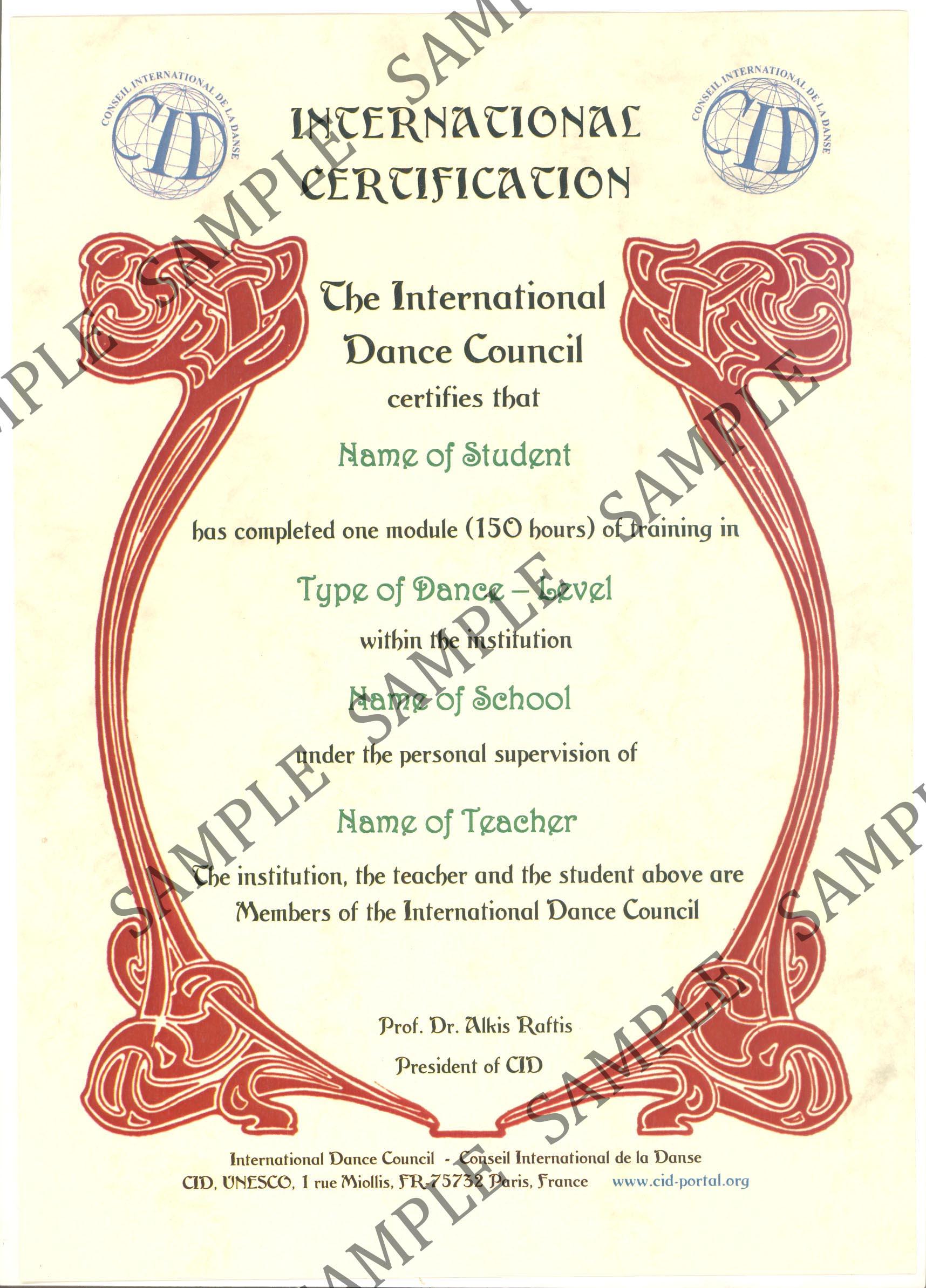 CID1-Certification